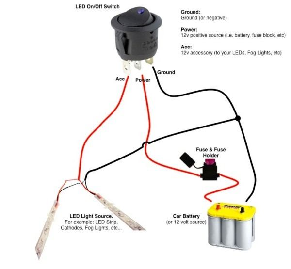 12 Volt 2 Way Switch Wiring