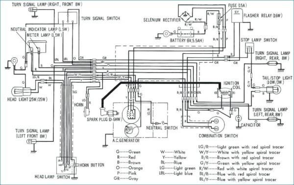 1970s Honda Cub Wiring Diagram