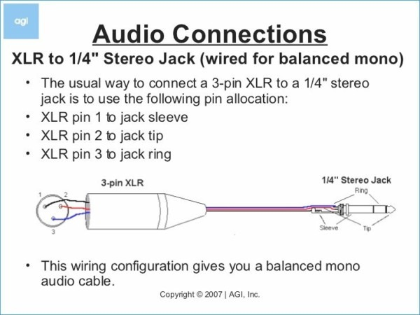1 4 Stereo Jack Wiring Diagram