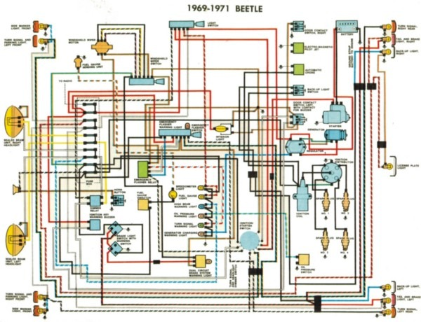 1972 Vw Beetle Wiring Diagram