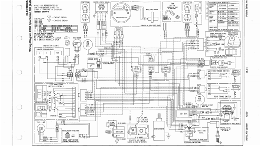 2001 Polaris Sportsman 500 Ho Wiring Diagram