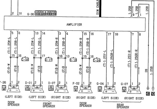 2001 Mitsubishi Mirage Radio Wiring Diagram