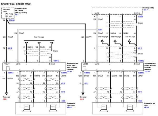 2008 Ford Mustang Wiring Diagrams