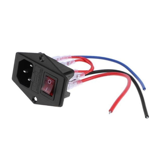 220v 110v 10a Power Supply Switch Ac Power Outlet Switch With Fuse