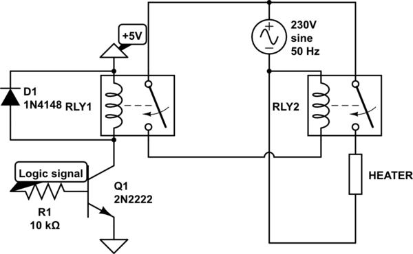 230v 230v Ac Relay Circuit