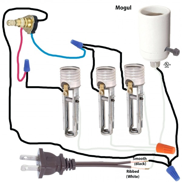 2 Circuit Lamp Socket Wiring