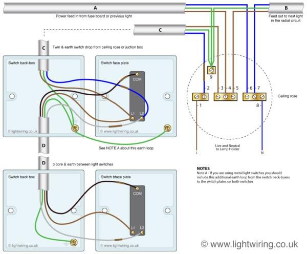2 Way Switch Diagram Light