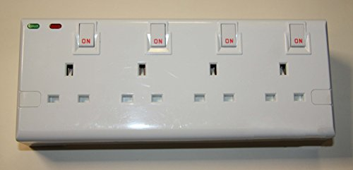 2to4 4 Gang Double Socket Surge Protected Plug In Adaptor  (all
