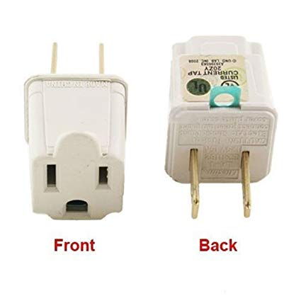 3 Prong To 2 Prong Outlet Electrical Ground Ac Adapter Grounding
