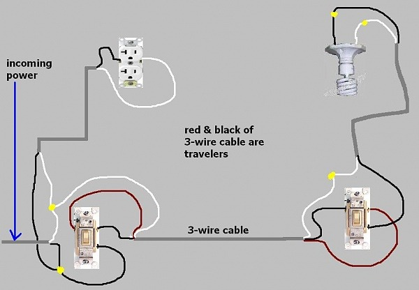 3 Single Pole Switch Wiring Diagram