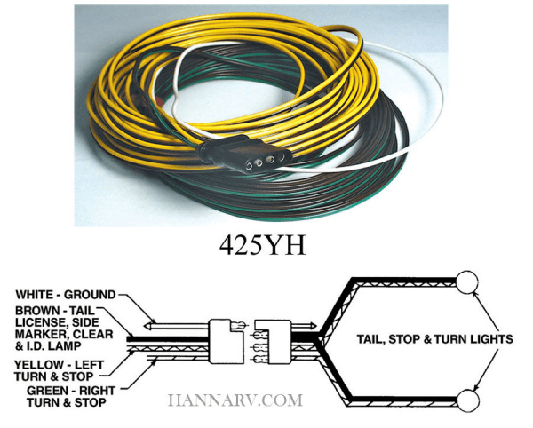 4 Way Trailer Wiring Harness