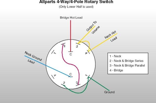 4 Pole 3 Way Rotary Switch Wiring Diagram
