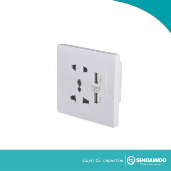 4 Way Wall Socket With Usb Charger