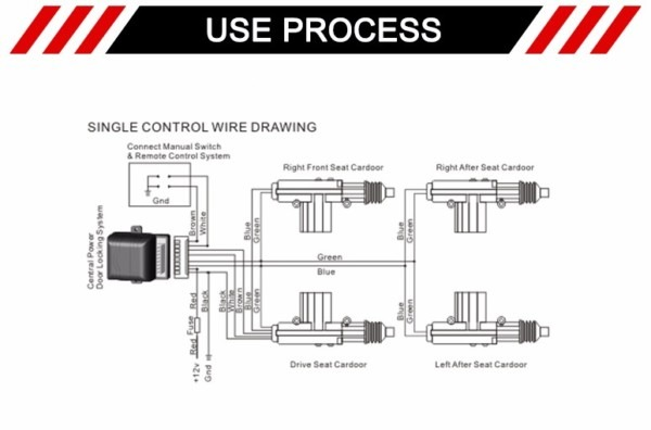 5 Wire Door Lock Actuator Wiring Diagram