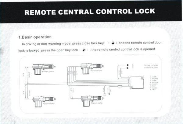 Diagram 5 Wire Door Lock Actuator Wiring Diagram