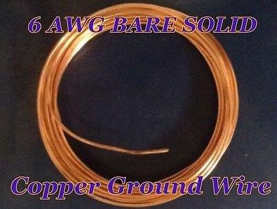 6 Gauge Solid Bare Copper Ground Wire ( 250 Feet )  Amazon Com