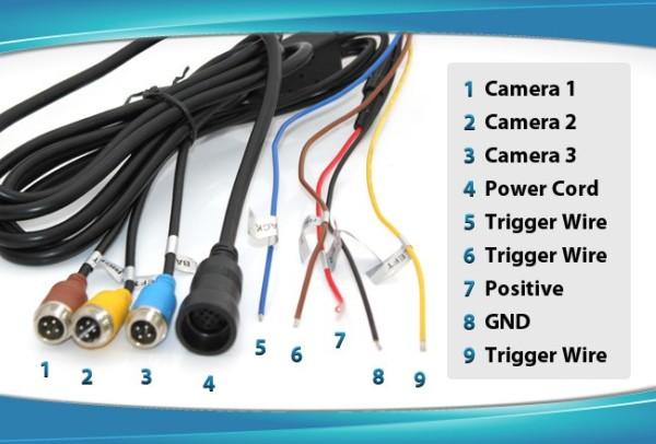 7  Rearview Mirror Monitor 12v 24v 3 Av Inputs 4pin Advanced