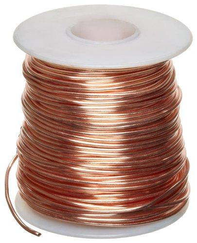 Amazon Com  Bare Copper Wire, Bright, 22 Awg, 0 025  Diameter, 500