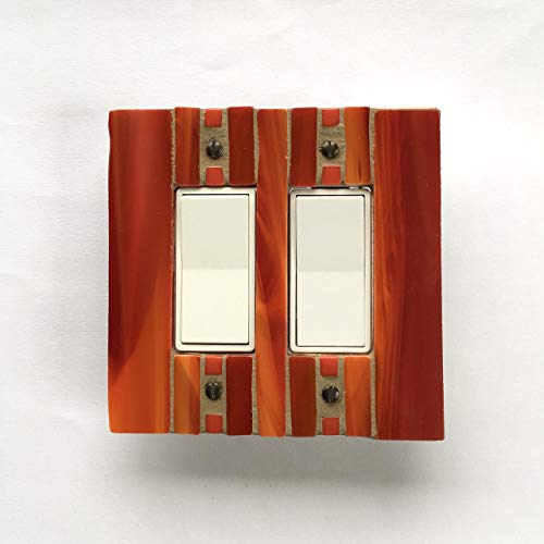 Amazon Com  Red And Orange Switchplate, Stained Glass Switch Plate