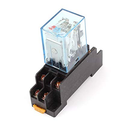 Amazon Com  Uxcell Dc 12v Coil Power Relay 10a Dpdt Ly2nj With