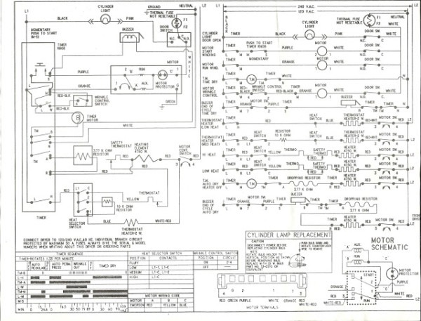 Appliance Talk  Kenmore Series Electric Dryer Wiring Diagram