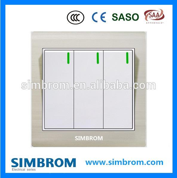 British Standard 3 Gang 2 Way Electrical Switch Wall Switch Wifi