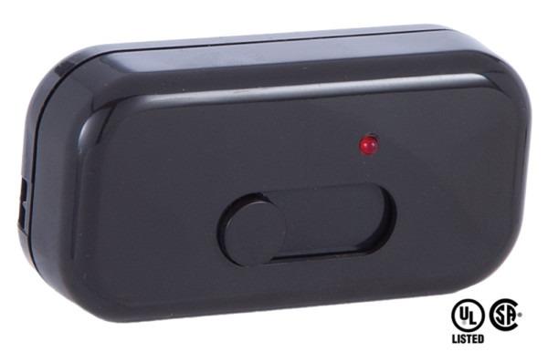 Brown Lutron Inline Cord Slide Dimmer Switch 48466bk