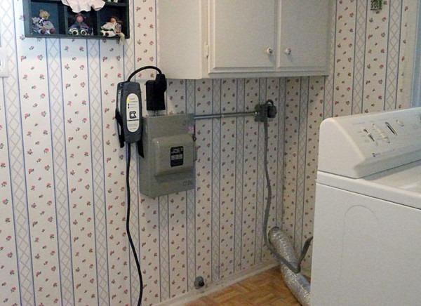 Electric Dryer Hookup Outlet