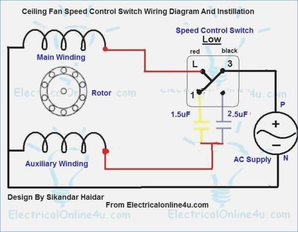 Ceiling Fan Speed Control Switch Wiring Diagram
