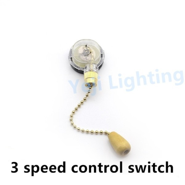 Ceiling Fan Switch Pull Chain Cable Wire Cord 3 Speed 3 Level