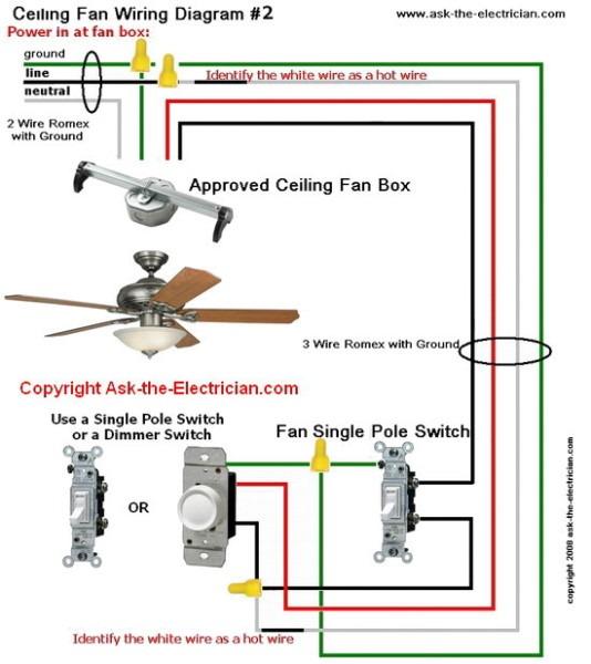 Ceiling Fan Wiring Diagram  2