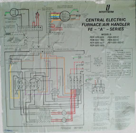 Intertherm Furnace Wiring Schematic