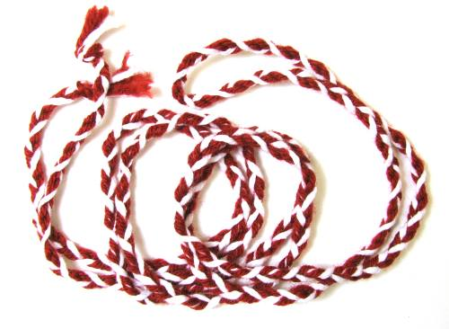 Cord St  Philomena Striped Red & White Cord 100  Wool, Generations