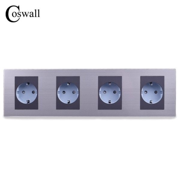 Aliexpress Com   Buy Coswall 16a Eu Standard Quadruple Outlet