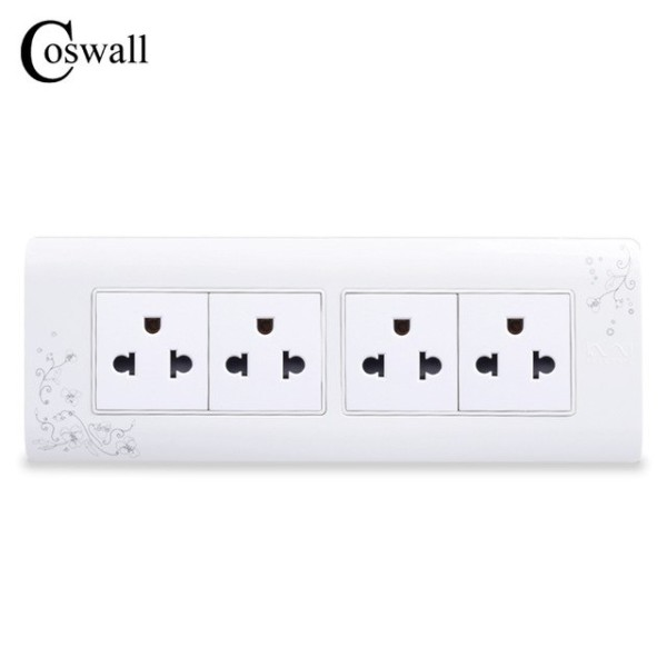 Coswall 4 Way Electrical Socket Us And Thailand Standard Plug
