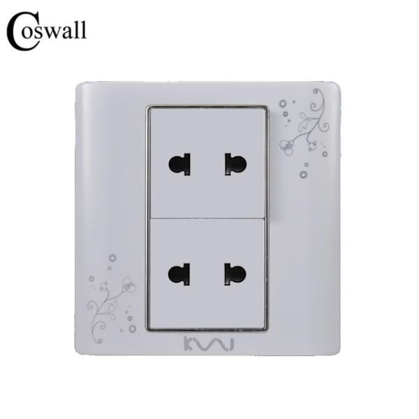 Coswall Universal Plug Luxury Wall Electrical Socket Multi