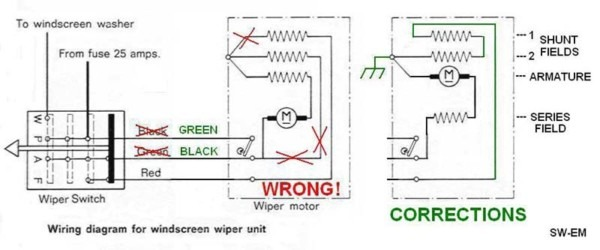 Valeo Wiper Motor Wiring Diagram