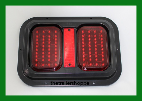 Double Stop Turn Tail Led Light With Black Base For Rv Motorhome