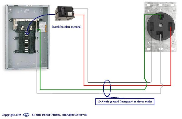 Electric Dryer Wiring Diagram For 220