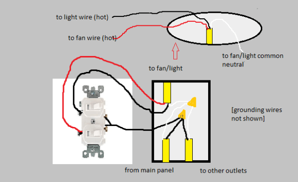 Diagram Where Does The Red Wire Go On A Light Switch