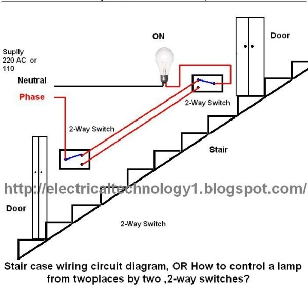 Electrical Technology  Stair Case Wiring Wiring Diagram, Or How To