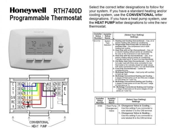 Heat Pump  Goodman Heat Pump Thermostat Wiring