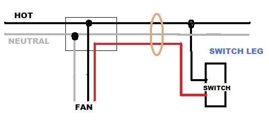 Help Installing A Ceiling Fan (no Light) On A Circuit W  Power