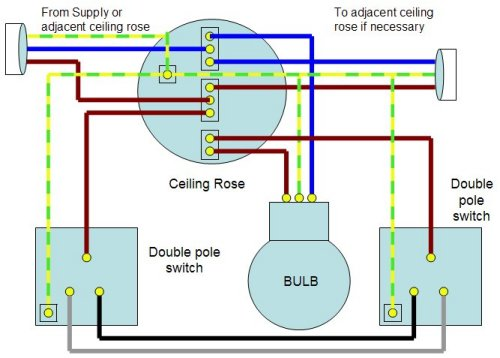 Two Way Light Switch Circuit