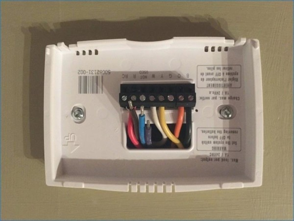 Honeywell Thermostat Black Wire Newest Volt Thermostat Wiring