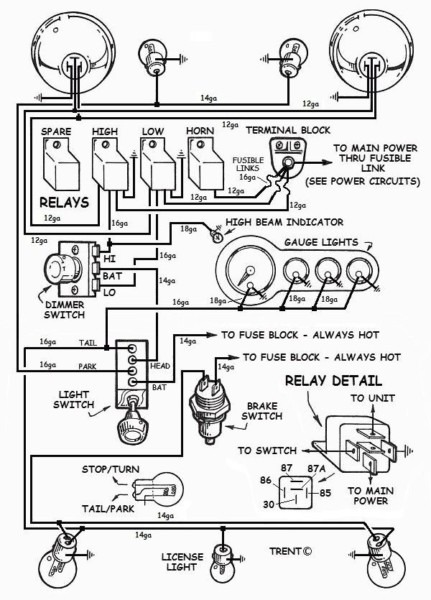 Hot Rod Tail Light Wiring Diagram