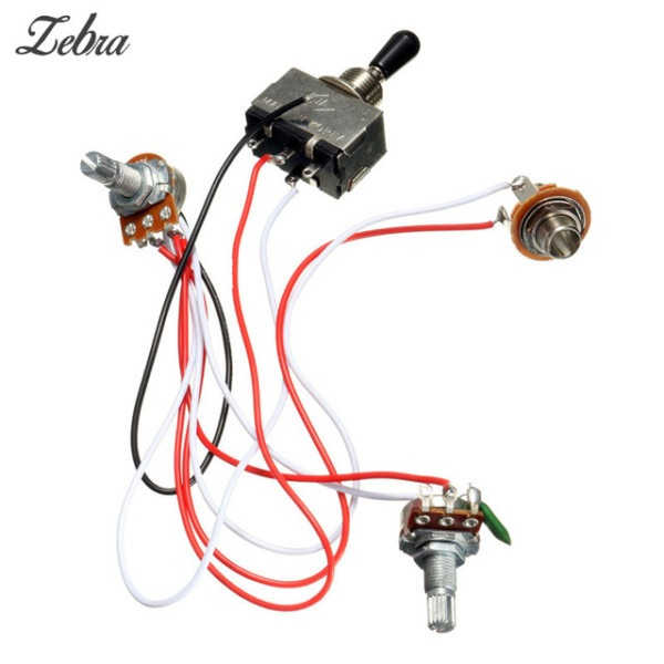 Hot Sale Electric Guitar Wiring Harness Kit 3 Way Toggle Switch 1