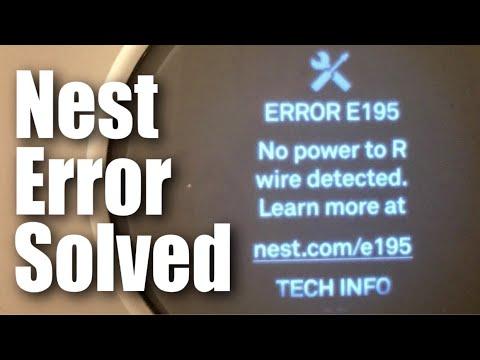 How I Fixed The Nest Thermostat E Error E195  No Power To R Wire