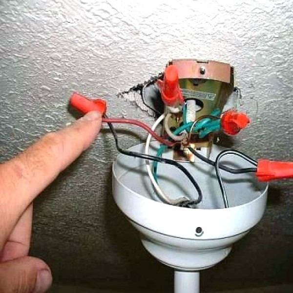 How To Connect A Ceiling Fan Red Wire