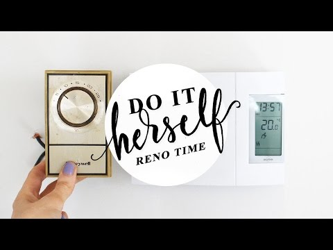 How To Replace An Analog Thermostat With Digital (baseboard
